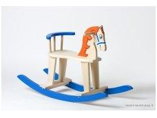 Rocking horse ''Blue & Orange''