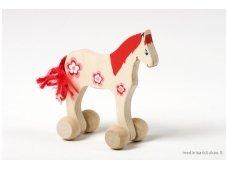 Mažas arkliukas su ratukais