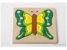 Dėlionė drugelis Žalias
