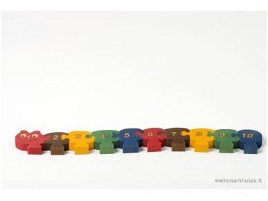 Puzzle ''Numbered Millipede'' 4