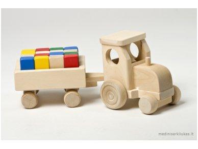 Traktorius su kaladėlėmis 2