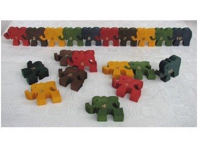 Dėlionė skaičiukai drambliukai 4