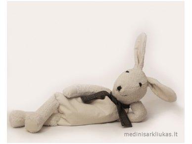 Šildantis žaislas baltaausis kiškutis Grūdas 2