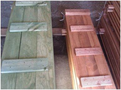 Medinė smėlio dėžė su dangčiu 1,5 x 1,5 m 5