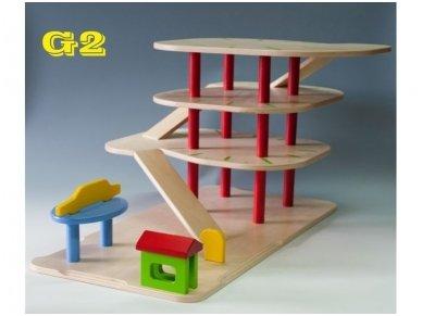 Žaislinis garažas 3