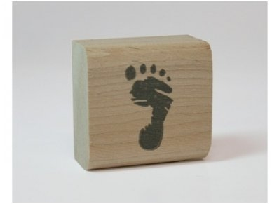 "Wooden stamp ""Foot"" 2"