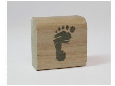 "Wooden stamp ""Foot"""