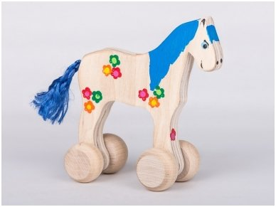 Horse with Wheels 'Blue'