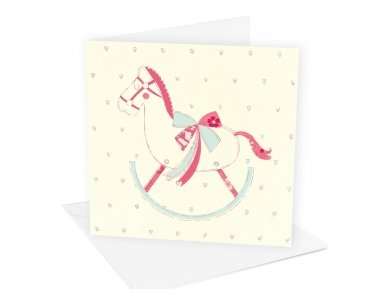 Postcard ´Pink Horse´