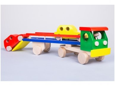 Car carrier truck with cars 2