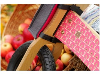 "Wooden balance bike ""Pink bears"" 2"