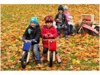 "Wooden balance bike ""Pink bears"" 3"