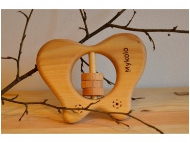 Organic wooden rattle teether 'Butterfly' 6