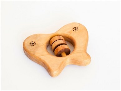 Organic wooden rattle teether 'Butterfly' 2