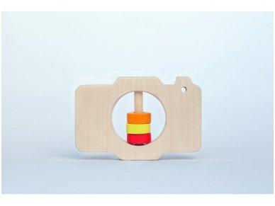 Barškutis-kramtukas fotoaparatas