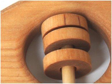 Organic wooden rattle teether 'Fish' 8