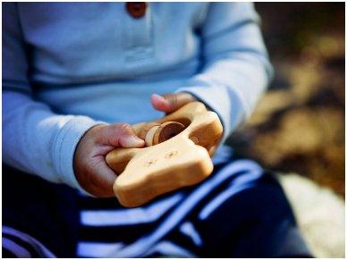 Organic wooden rattle teether 'Teddy bear' 2