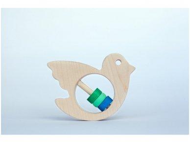 Barškutis-kramtukas paukštelis