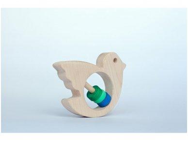 Barškutis-kramtukas paukštelis 5