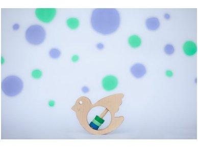 Barškutis-kramtukas paukštelis 3