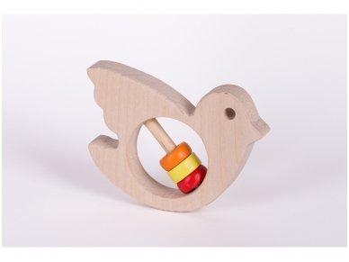 Barškutis-kramtukas paukštelis 2