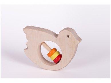 Barškutis-kramtukas paukštelis 4