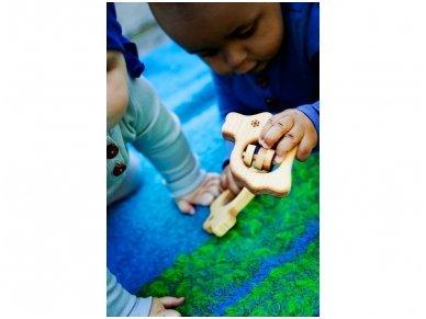 Organic wooden rattle teether 'Bunny' 4