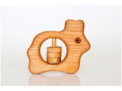 Organic wooden rattle teether 'Bunny'