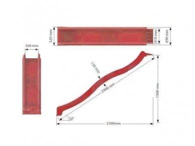 Plastmasinis nusileidimas 2900 mm. 2