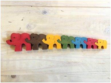 Dėlionė septyni drambliukai 6