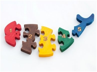 Puzzle ''Numbered Whale'' 2
