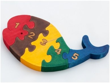 Puzzle ''Numbered Whale''