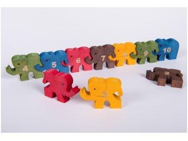 Dėlionė skaičiukai drambliukai 5