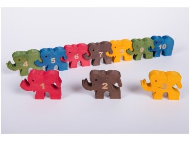 Puzzle ''Numbered Elephants'' 6