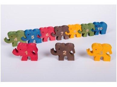 Dėlionė skaičiukai drambliukai 6