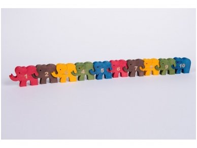 Puzzle ''Numbered Elephants'' 2