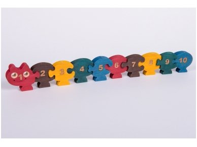 Puzzle ''Numbered Millipede'' 2