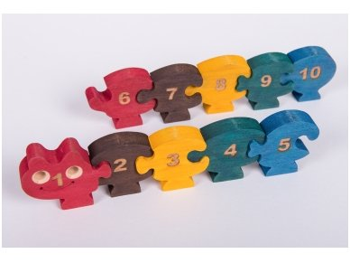 Puzzle ''Numbered Millipede'' 3