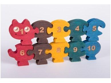 Dėlionė - skaičiukai šimtakojis