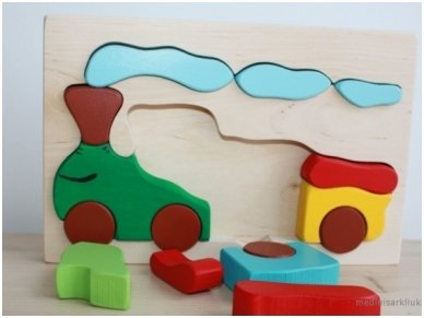 Wooden puzzle ''Train'' 3