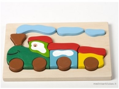 Wooden puzzle ''Train''