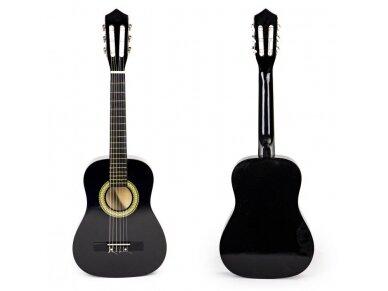 Didelė vaikiška medinė gitara su 6 stygomis 9