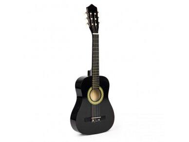 Didelė vaikiška medinė gitara su 6 stygomis 7