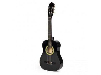 Didelė vaikiška medinė gitara su 6 stygomis 8