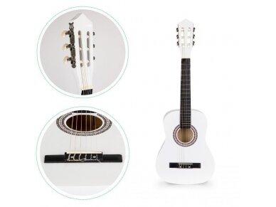 Didelė vaikiška medinė gitara su 6 stygomis 5
