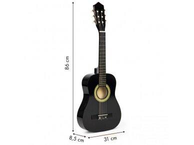 Didelė vaikiška medinė gitara su 6 stygomis 10