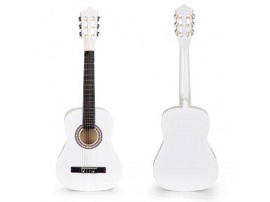Didelė vaikiška medinė gitara su 6 stygomis 4