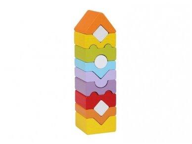 Didelis spalvotas bokštas