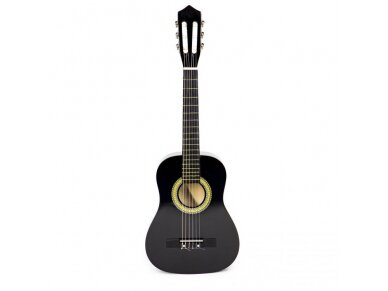 Didelė vaikiška medinė gitara su 6 stygomis 11