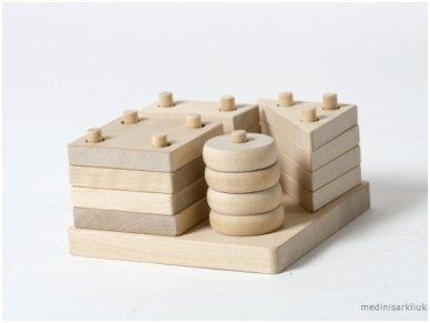 Figūrinės geometrinės kaladėlės